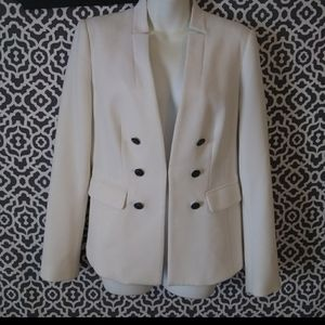 WHBM White Admiral Single Clasp Button Blazer 6